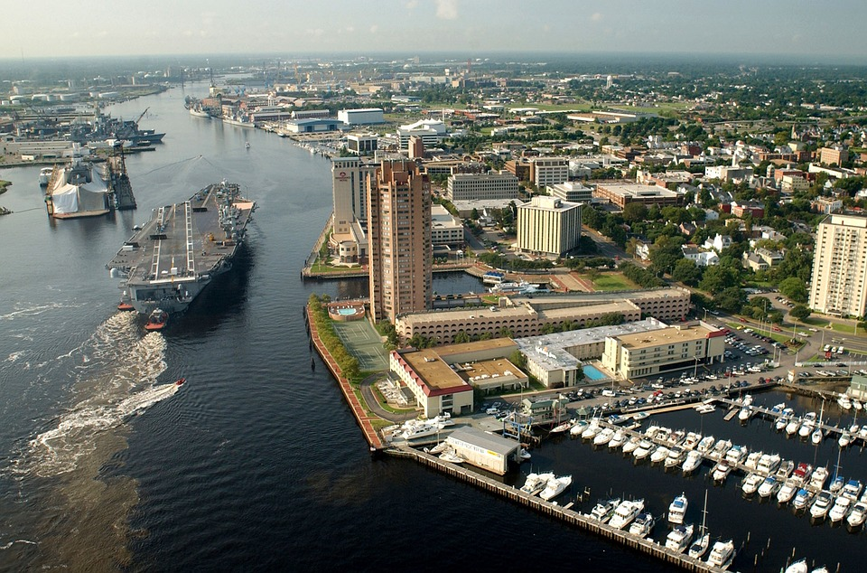 Portsmouth, VA - top destinations of our long distance movers Virginia.