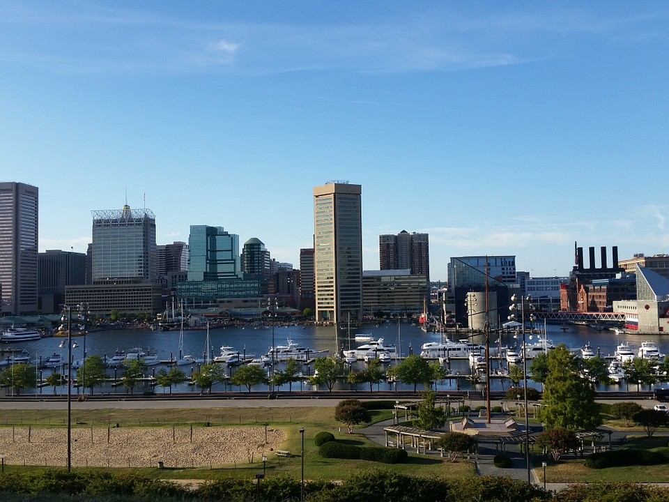 Baltimore harbor - one of the common destination for our long distance movers in Maryland.
