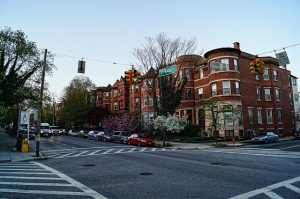 Top Baltimore suburbs to buy a house. Houses and street.
