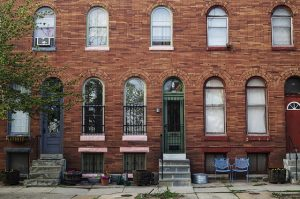 Moving to Baltimore. Row house captured.